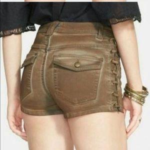 Free People Boho shorts ( lace-up sides) !!